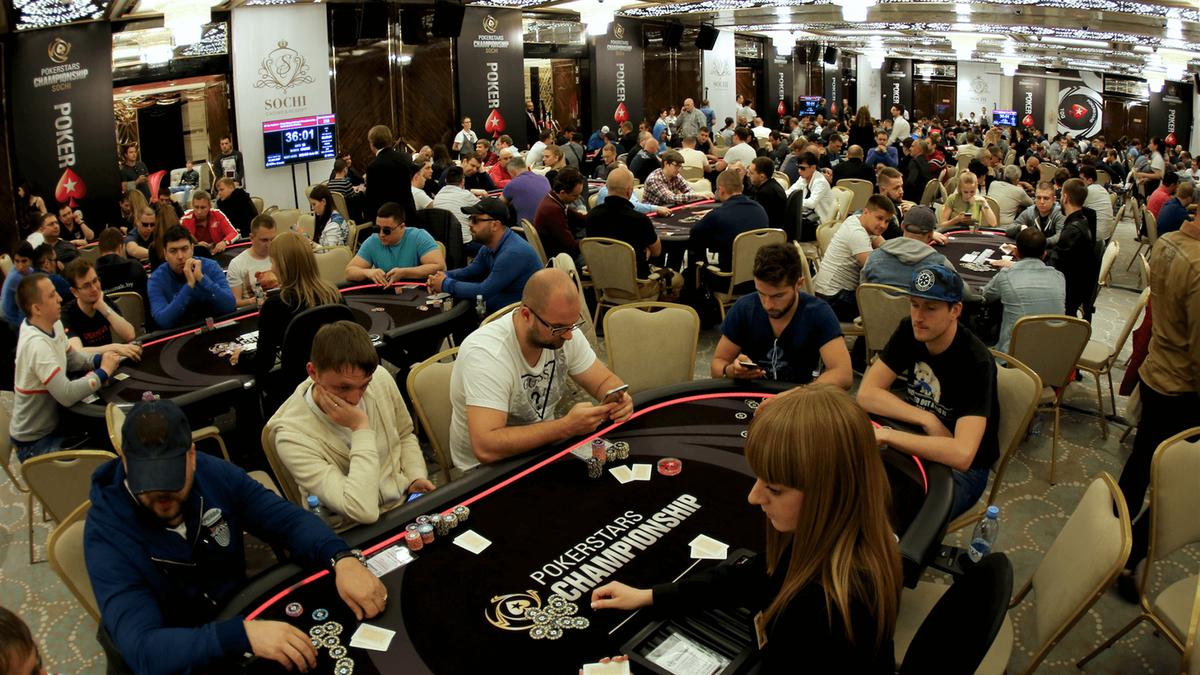 un tournoi de poker à Sochi
