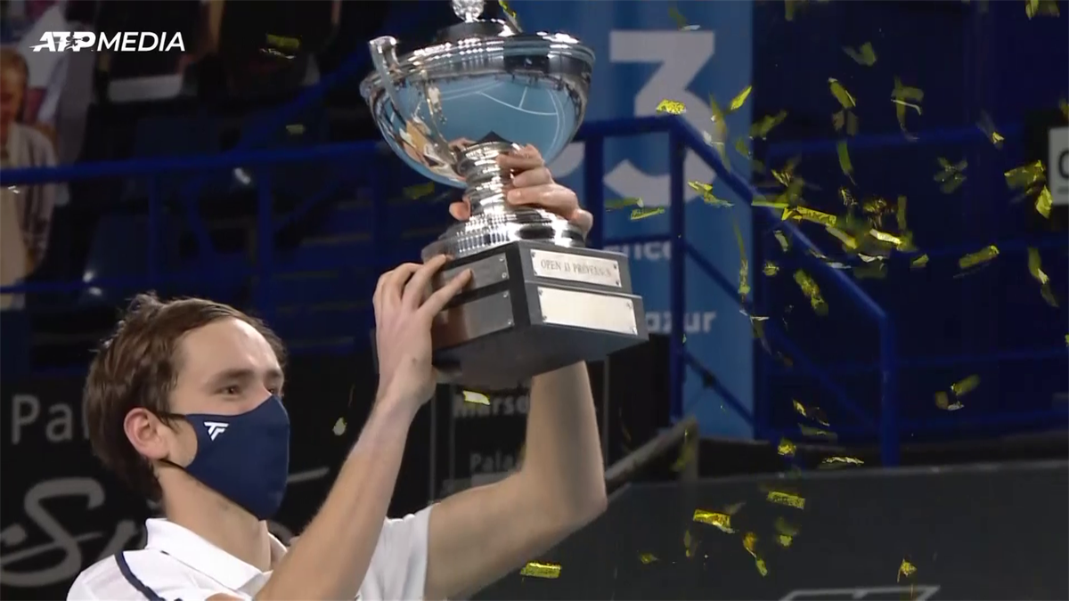 ATP MArseille: Medvedev beats Herbert to lift 10 th ATP Title (highlights)