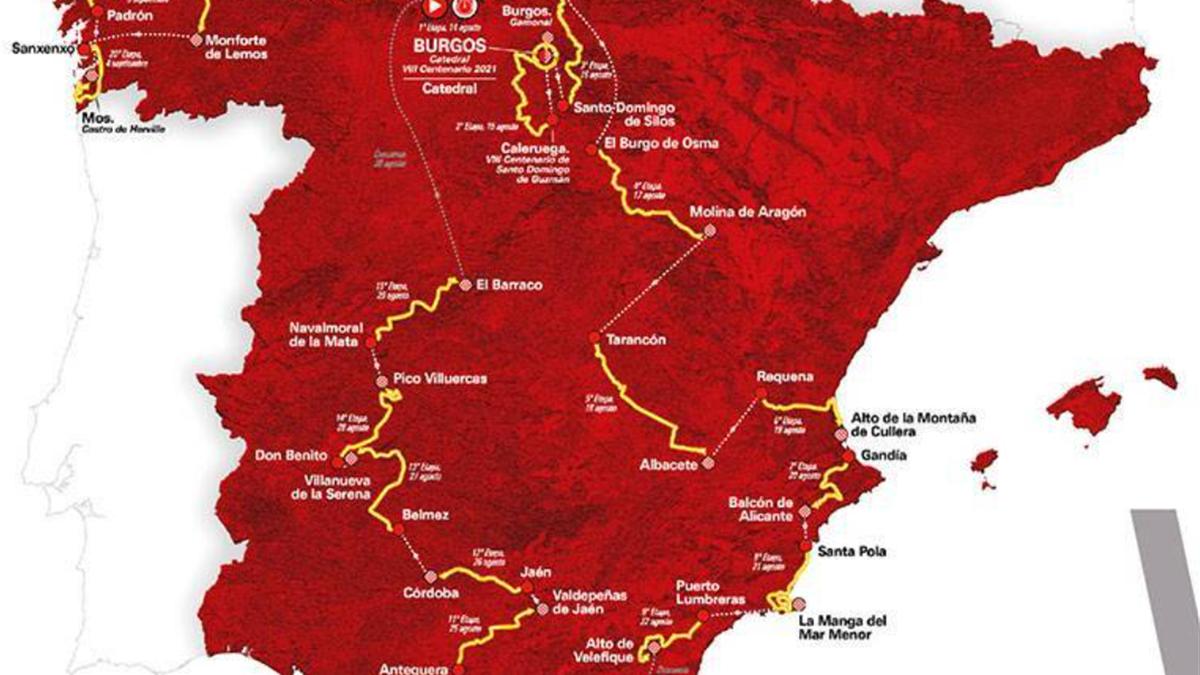 Vuelta a Espana route map - LaVuelta.es