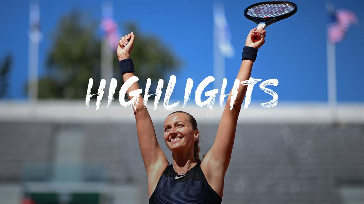 Highlights: Kvitova battles past qualifier Minnen