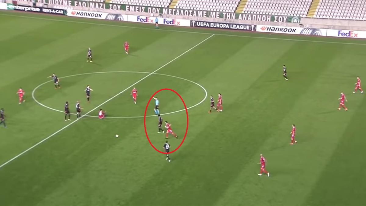 Jordi Gomez a înscris un gol fabulos de la 56 de metri și a intrat în istoria Europa League (Sursa: Optus Sport)