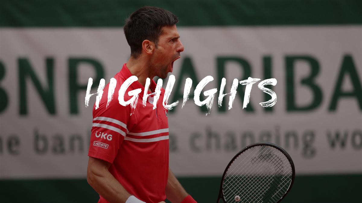 Highlights: Fired up Djokovic powers through against Berankis