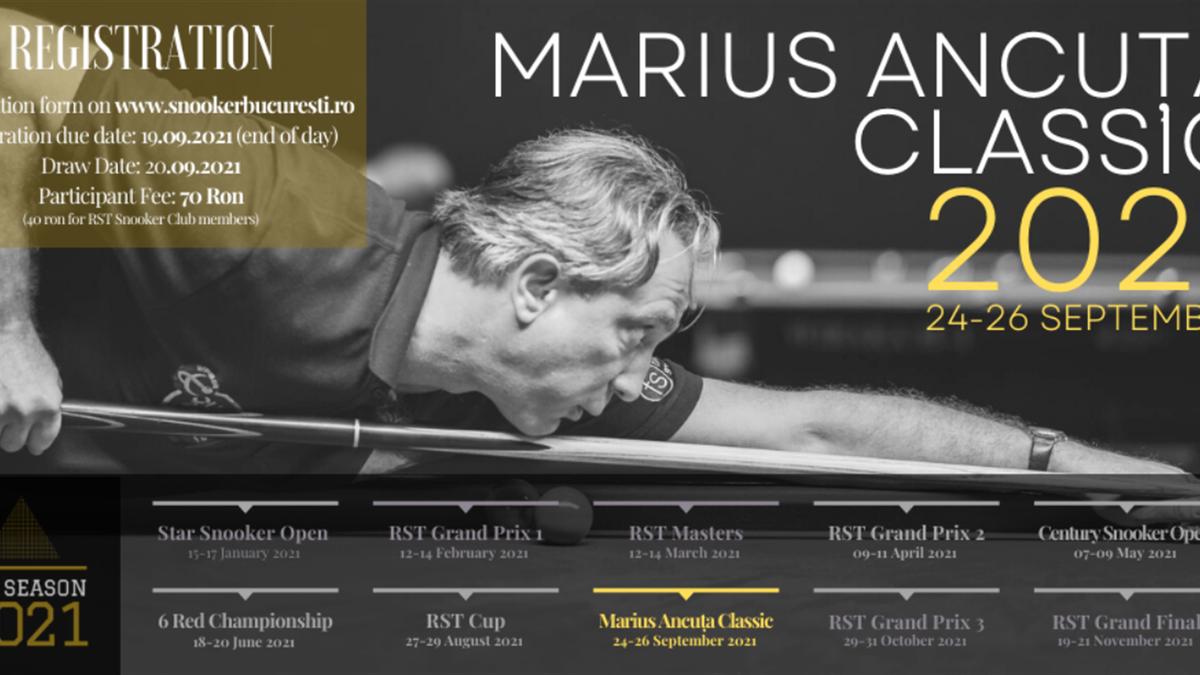 Marius Ancuța Classic 2021 se va disputa între 24 și 26 septembrie la București
