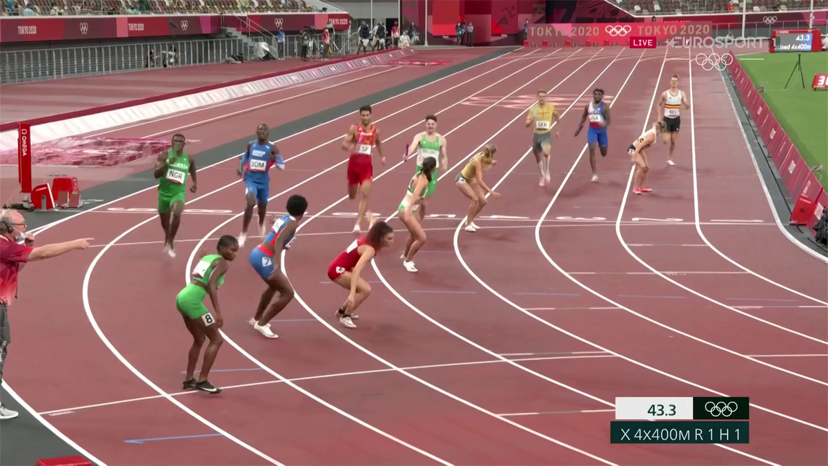 Tokyo 2020 Athletics 4x400 Mixed relay moment