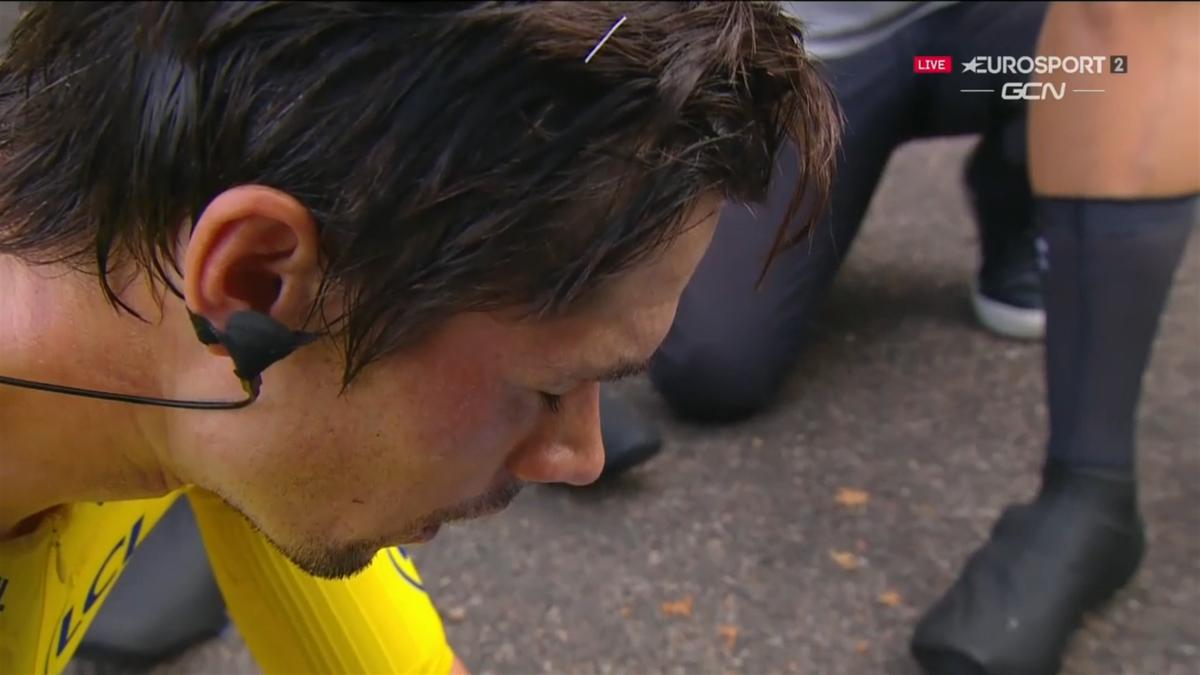 Primoz Roglic, dezamăgit după ce a pierdut tricoul galben în Turul Franței