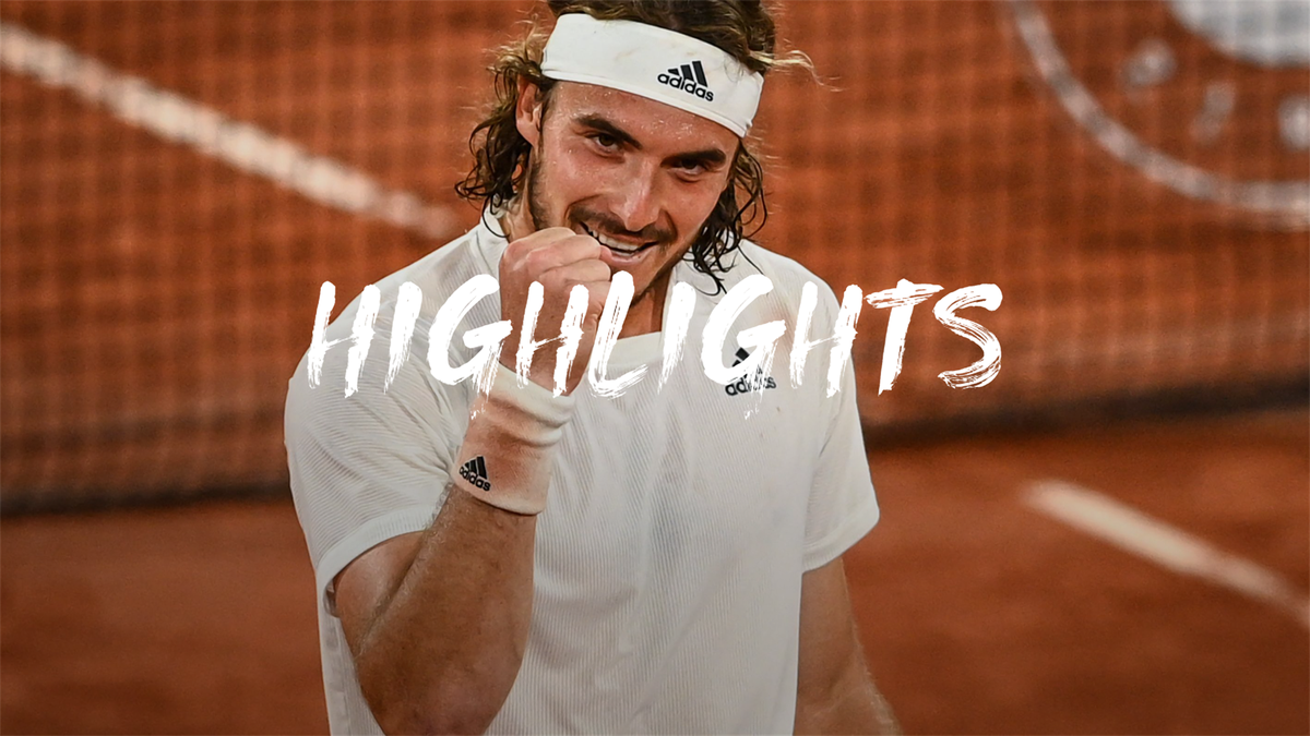 Highlights: Tsitsipas downs Medvedev in straight sets to reach semis