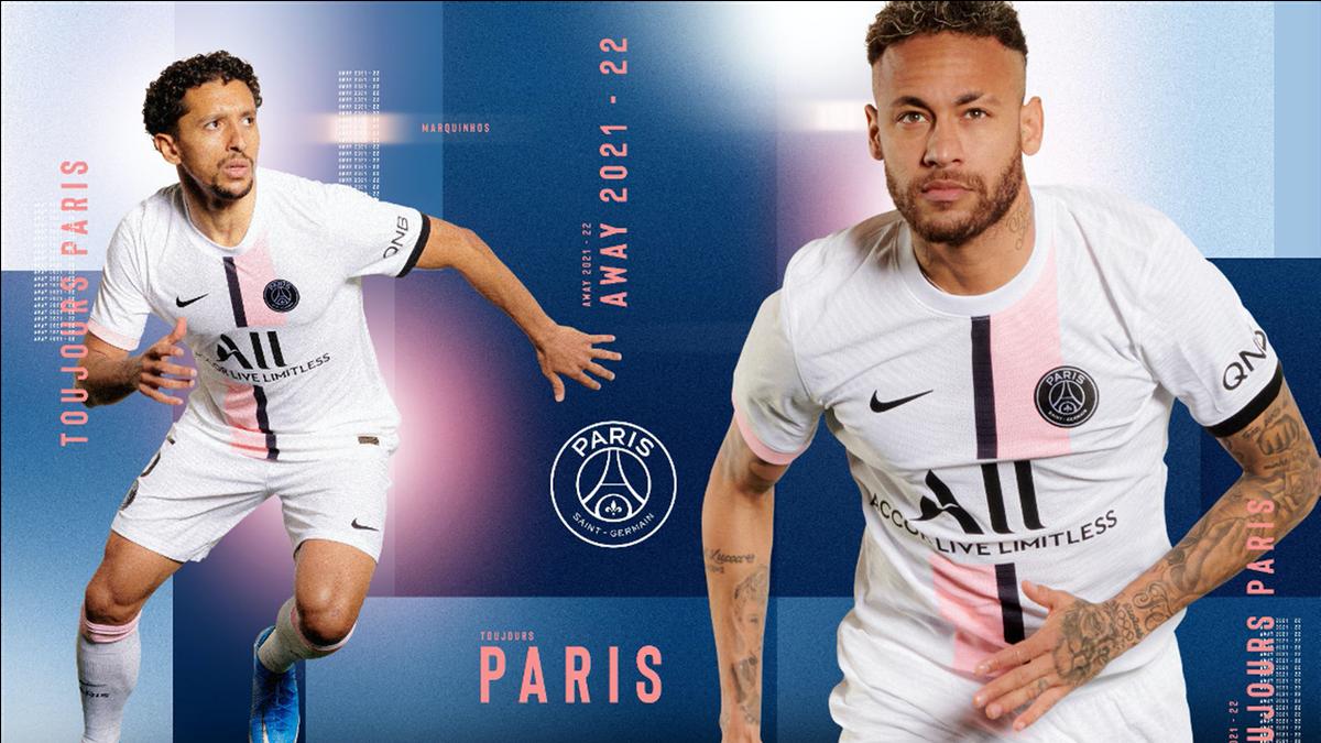 Le maillot extérieur du PSG pour la saison 2021/2022