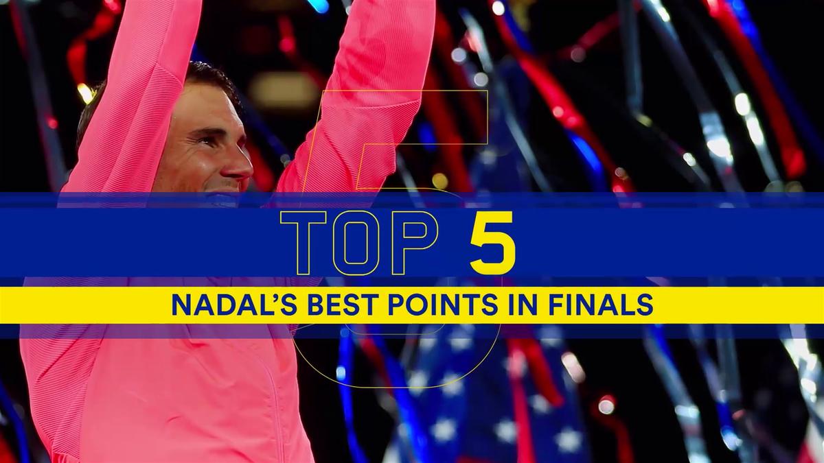 Top 5 Nadal's best points in finals