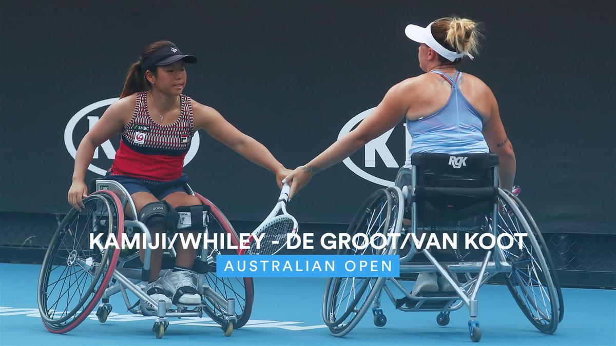 Australian Open : Kamiji/Whiley v De Groot/Van Koot - highlights