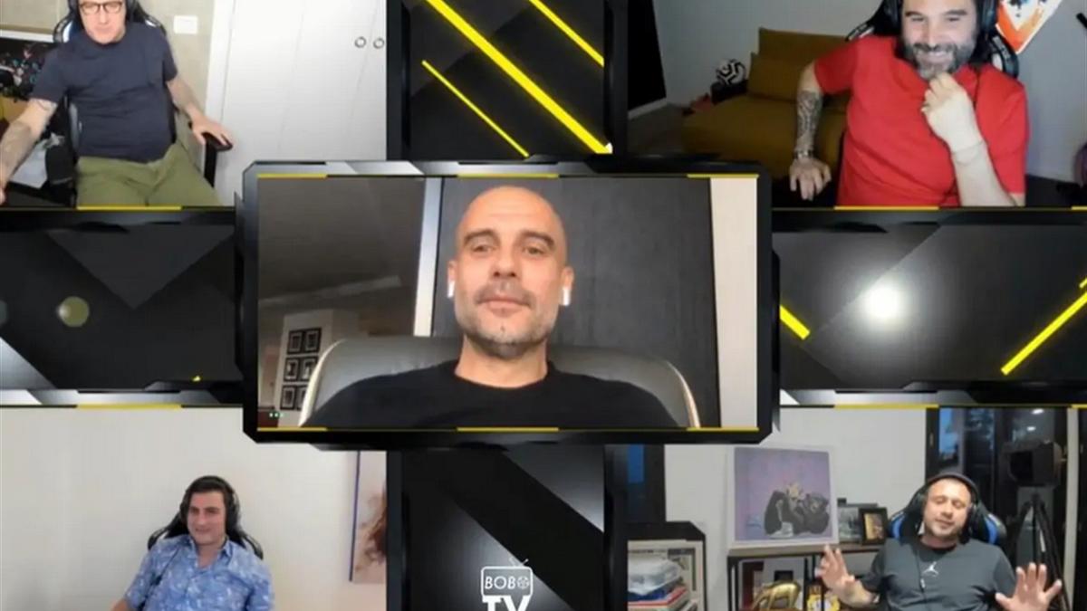Pep Guardiola ospite della BoboTV su Twitch