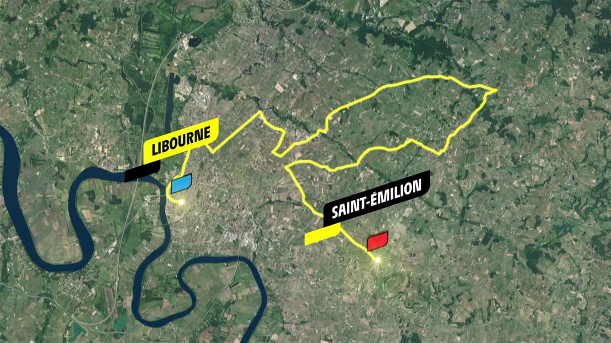 20ª etapa: | Perfil y recorrido: Libourne - Saint-Emilion