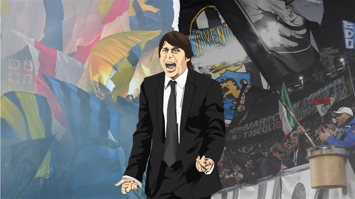 copertina Conte, Inter-Juventus