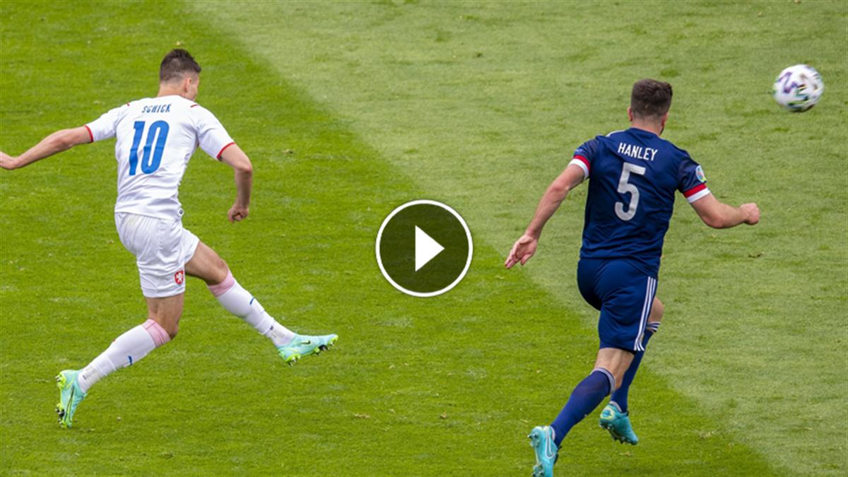 Schick e un gol da leggenda: guarda il suo pallonetto da 45 metri