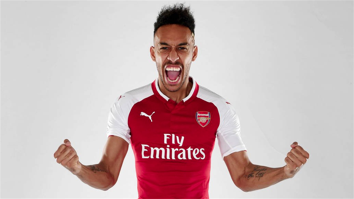 Pierre-Emerick Aubameyang im Trikot des FC Arsenal im Januar 2018