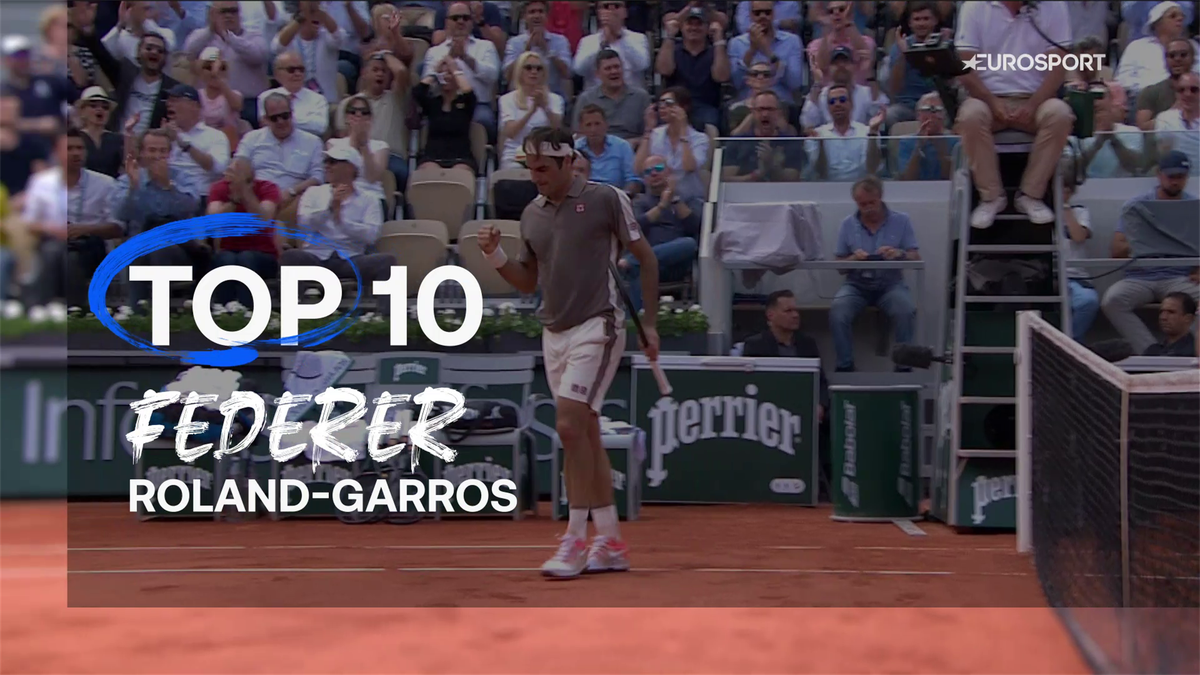 Top 10: Roger Federer best Roland-Garros moments