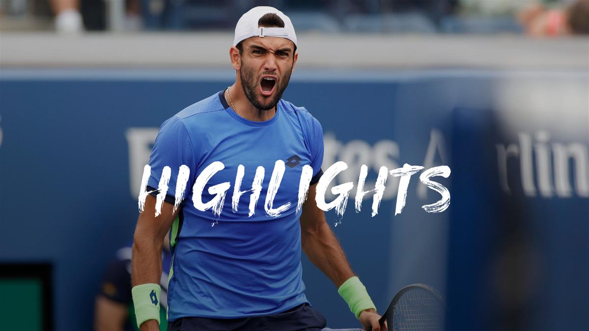 US Open   Berrettini trekt lijn van Wimbledon via tiebreaks door
