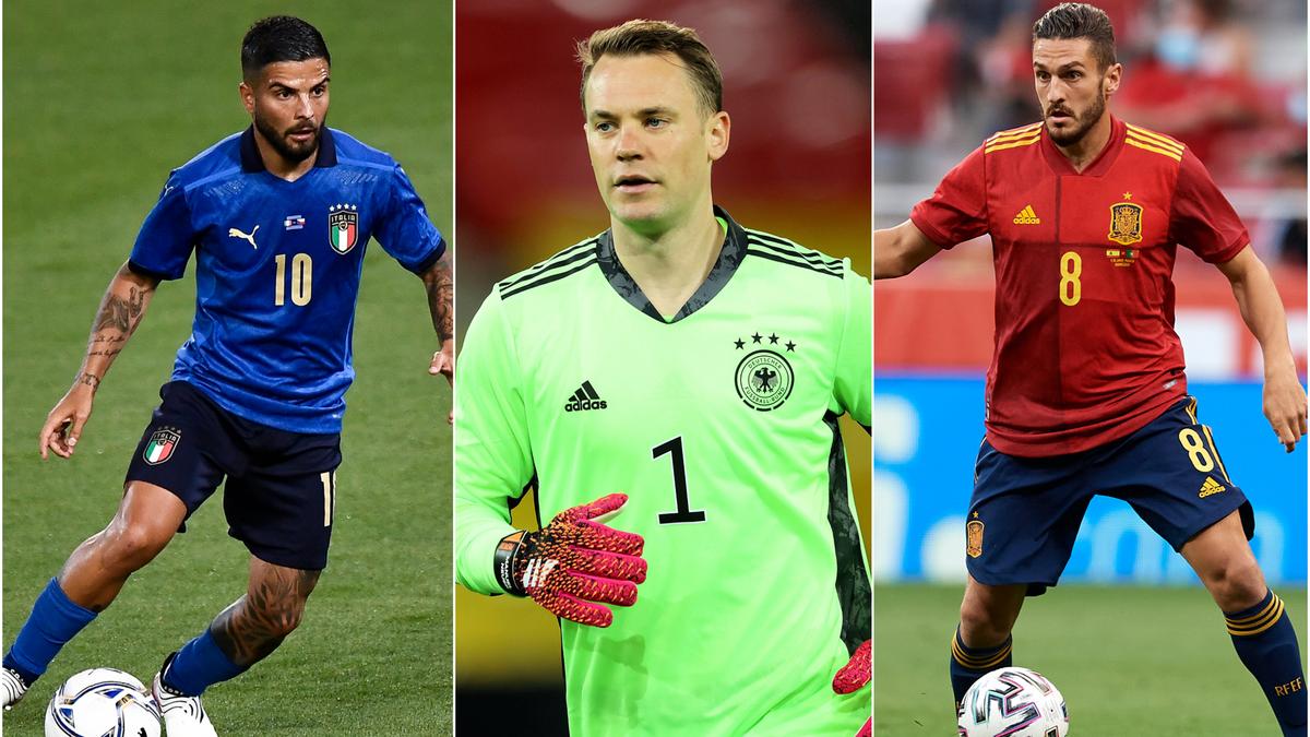 Lorenzo Insigne (Italie), Manuel Neuer (Allemagne) et Koke (Espagne) pourront-ils aider leur nation à soulever un nouveau titre ?