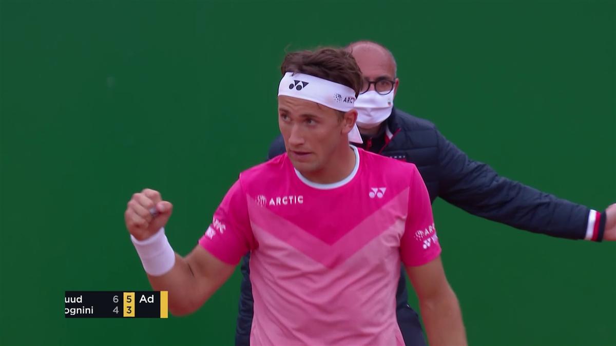 Ruud s'offre le tenant du titre Fognini pour filer dans le dernier carré à Monte-Carlo !