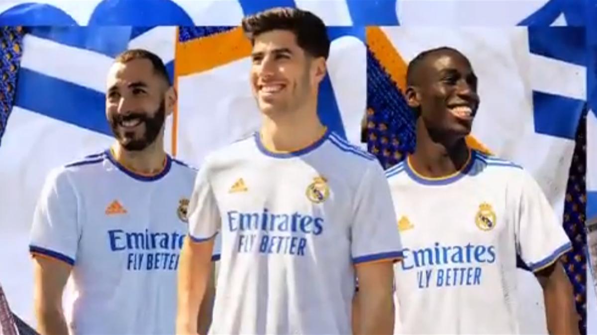Nueva camiseta del Real Madrid para la temporada 21/22.