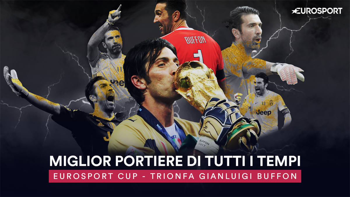 Gianluigi Buffon vincitore dell'Eurosport Cup