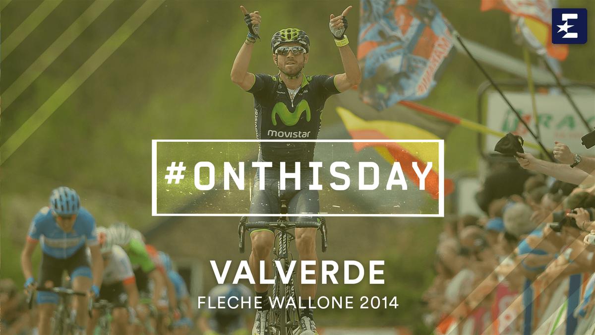 #OnThisDay: Valverde winning La Fleche-Wallonne 2014 (in English)