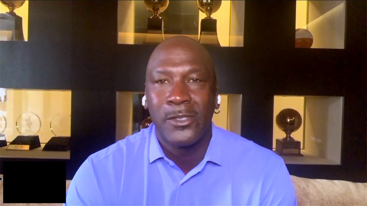 """Basketball: Michael Jordan described his final NBA championship season with the Chicago Bulls as a """"trying year."""""""