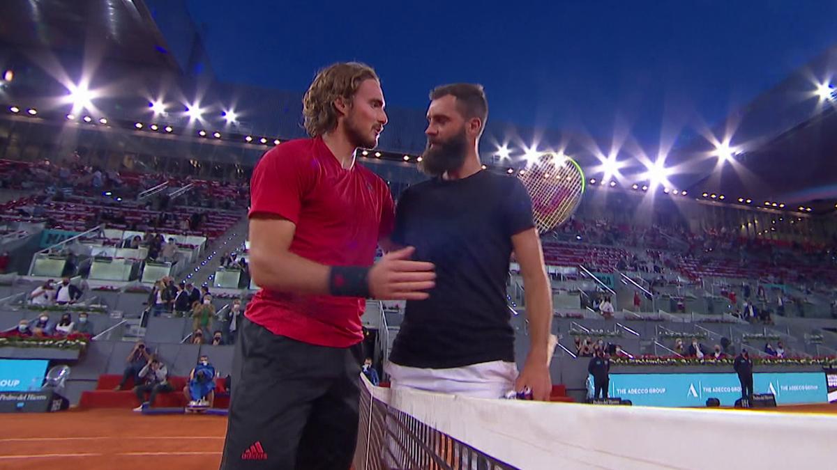 ATP Madrid - highlights: Paire - Tsitsipas