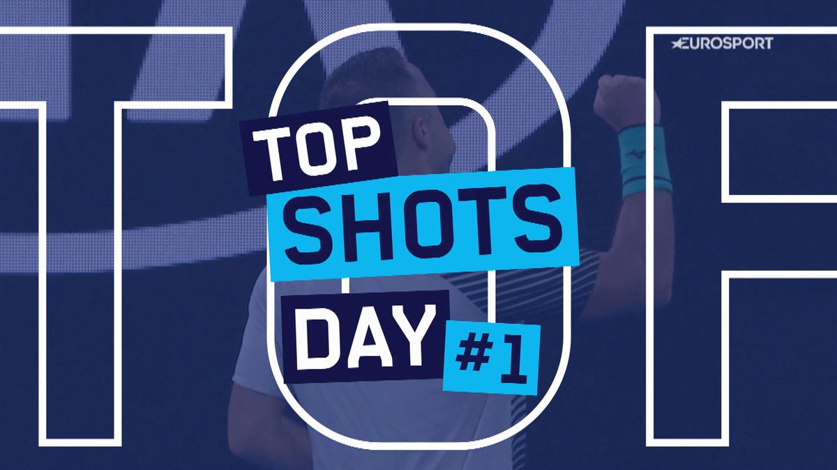 Australian Open:Top 5 day 1