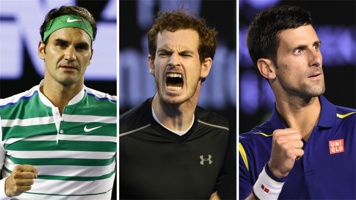 Roger Federer - Andy Murray - Novak Djokovic