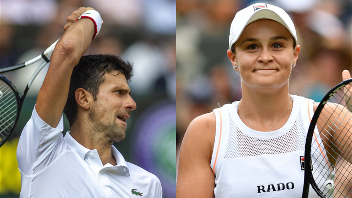 Novak Djokovic ve Ashleigh Barty