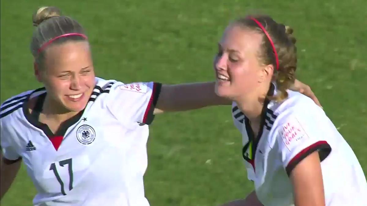 Pia Sophie Wolter und Stefanie Sanders (Deutschland U20)