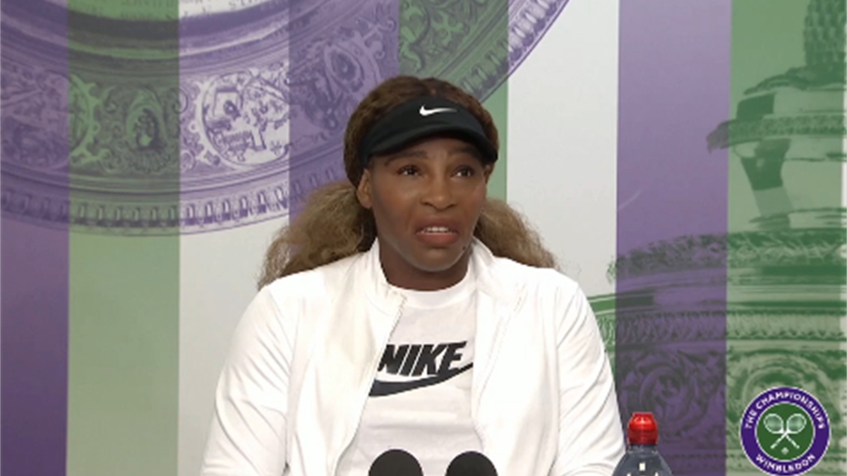 Serena Williams in conferenza stampa, Wimbledon 2021