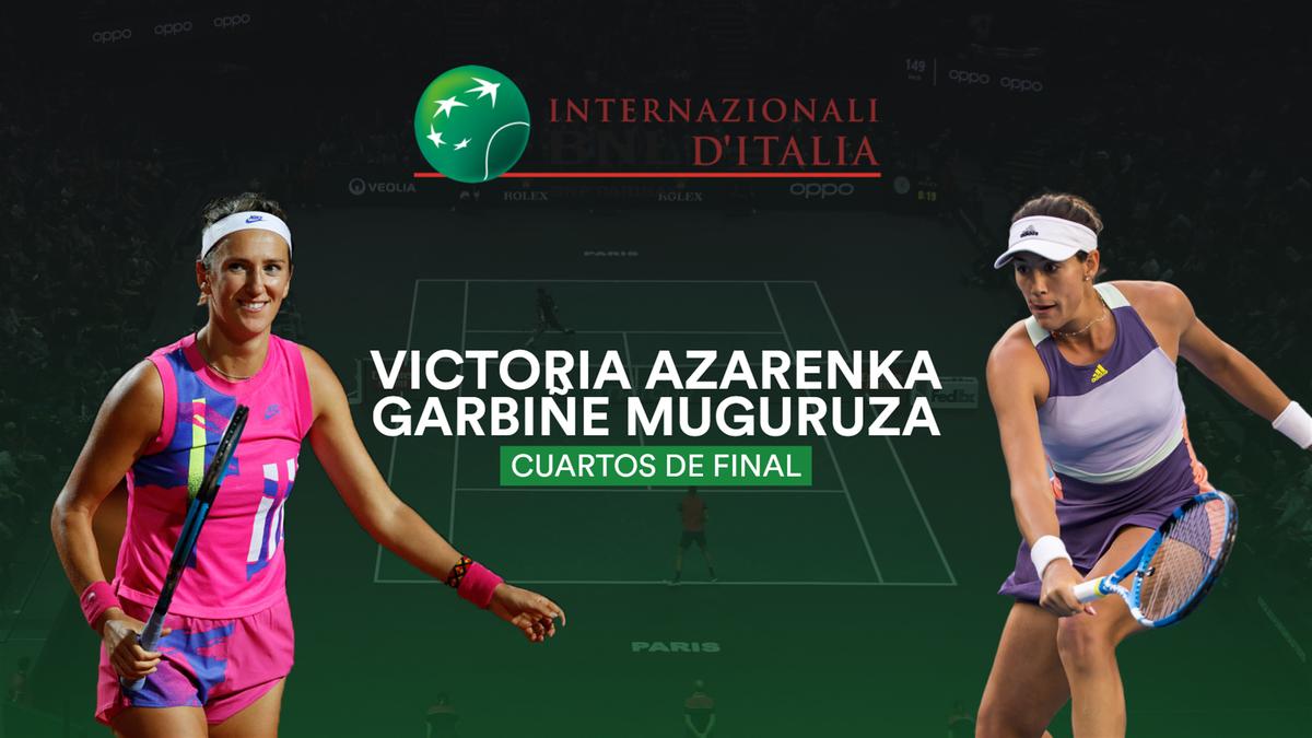 Garbiñe Muguruza a învins-o pe Victoria Azarenka și va juca mâine cu Simona Halep în semifinalele de la Roma