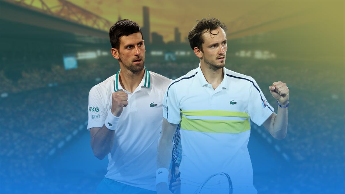 Novak Djokovic and Daniil Medvedev ahead of the 2021 Australian Open final