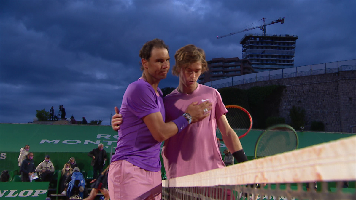 Atp Monte Carlo : Highlights : Rublev Defeated Nadal (6-2 4-6 6-2)