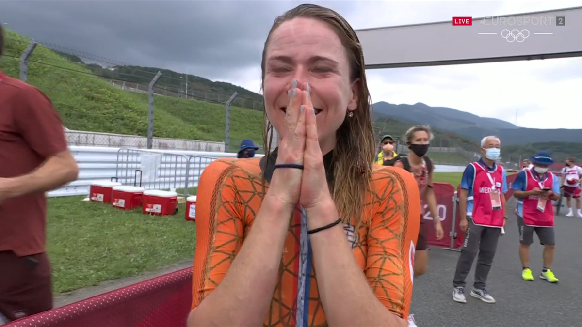 'A gold medal at last!' - Van Vleuten celebrates with abandon after time trial success