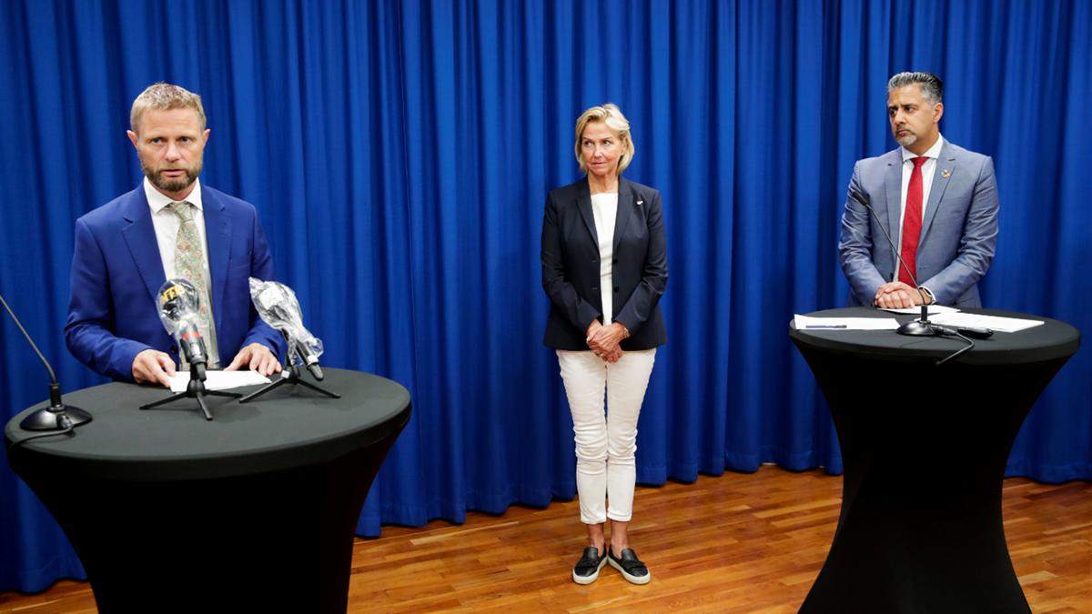 Bent Høie, Berit Kjøll og Abid Raja