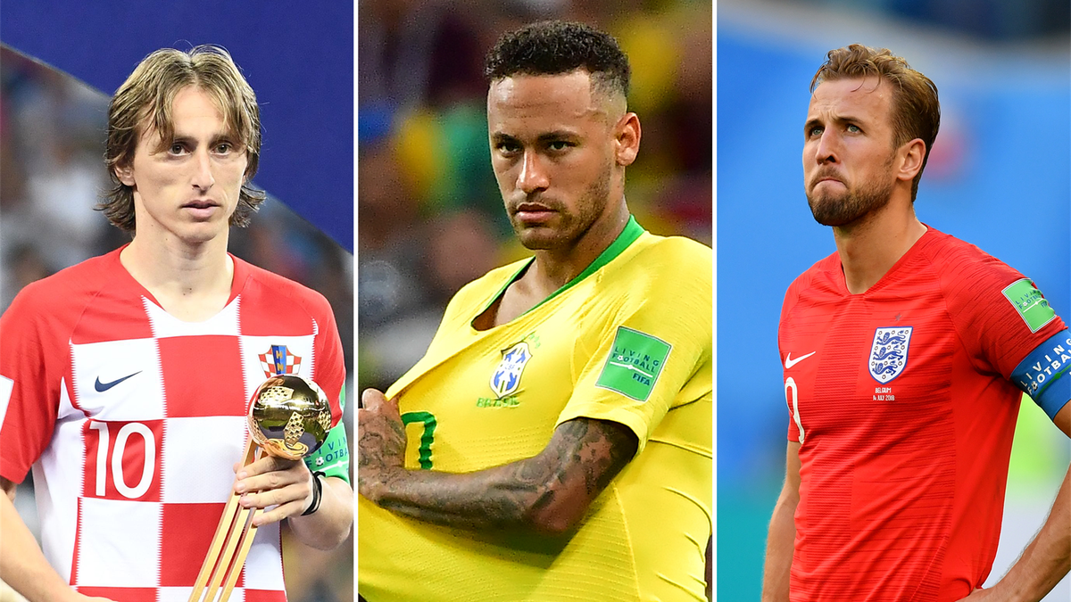 Luka Modric, Neymar, Harry Kane