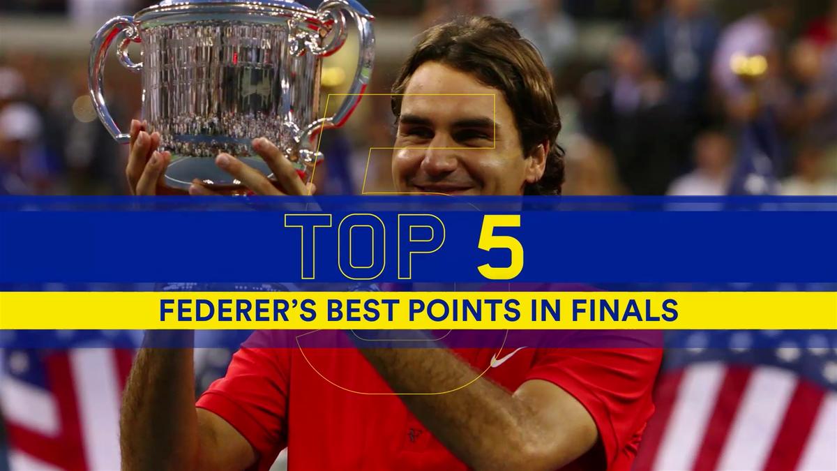 Top 5 Federer's best points in US Open finals