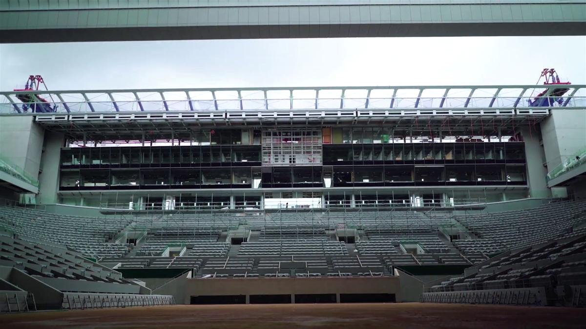 Roland Garros : a roof on Phillip Chatrier court !