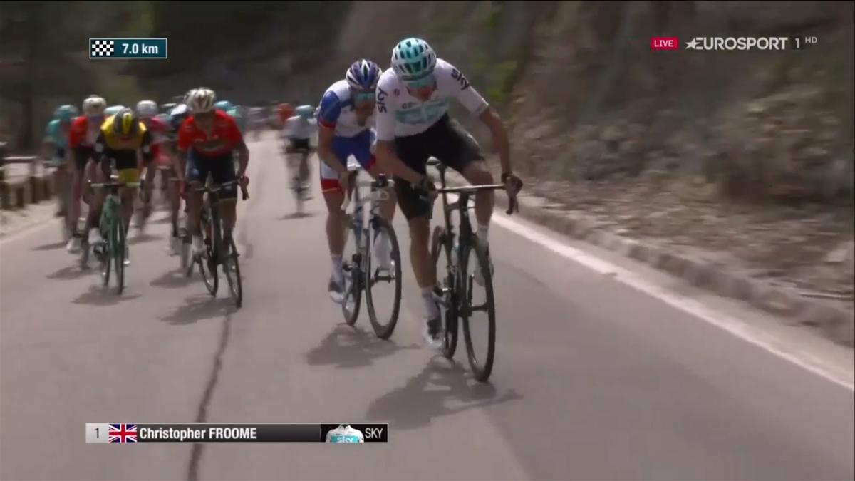Froome ataca en el Tour de los Alpes