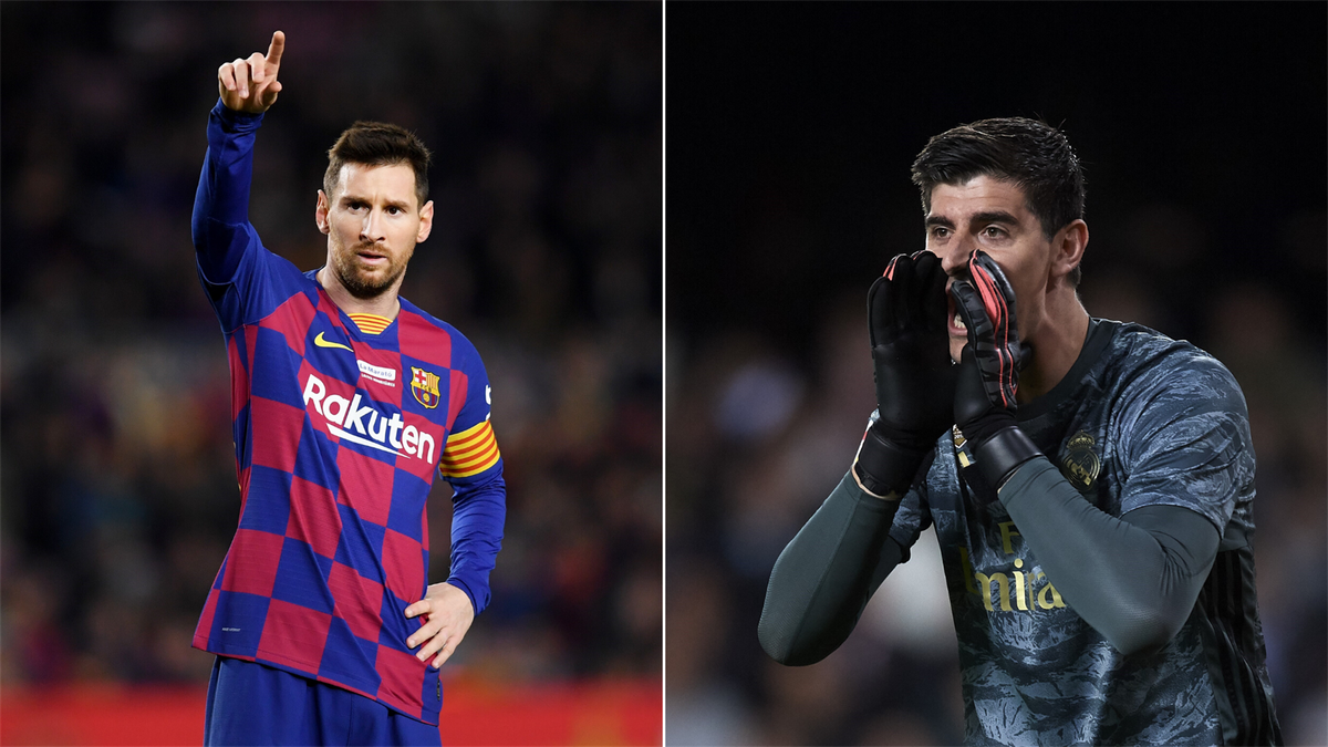 Leo Messi ve Thibaut Courtois