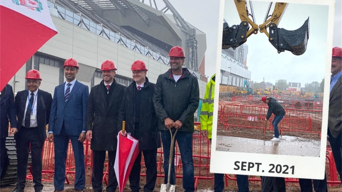 Jurgen Klopp a deschis lucrările pentru mărirea capacității stadionului Anfield. Liverpool va putea găzdui 61 de mii de fani din 2023. Sursa: thisisanfield.com