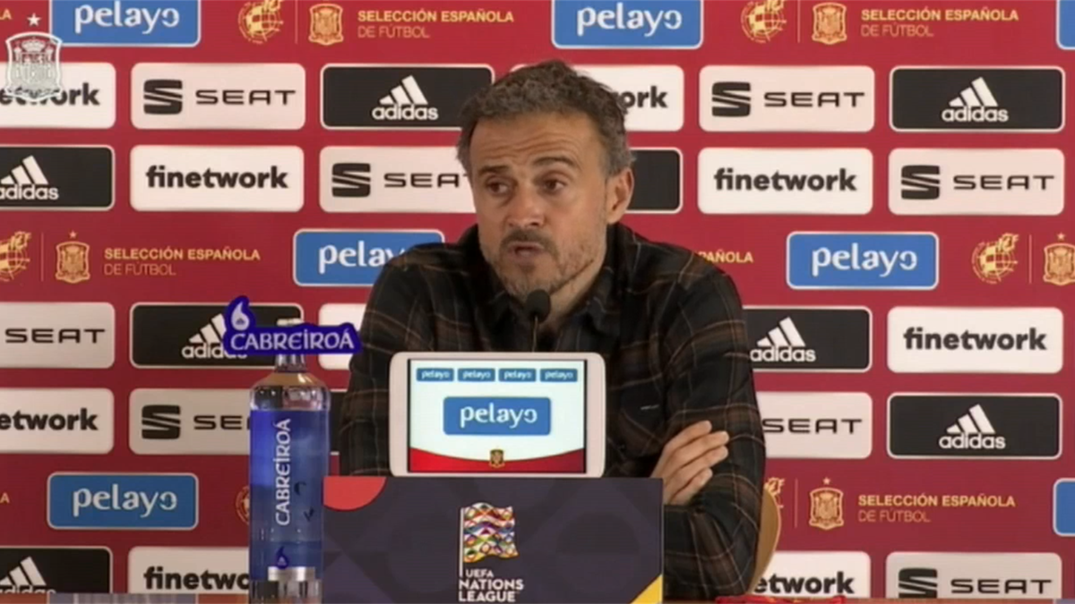Luis Enrique, en rueda de prensa tras el 6-0 a Alemania
