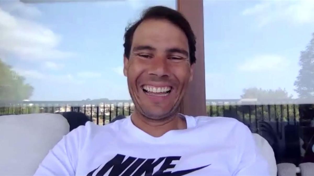 Rafael Nadal en una rueda de prensa virtual