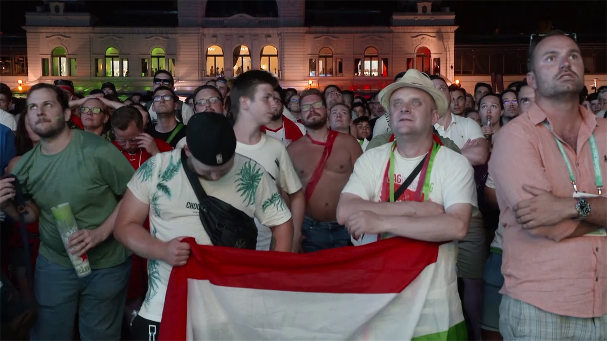 Euros 2020 - Hungary fans in Budapest watch 2-2 draw against Germany (sntv)