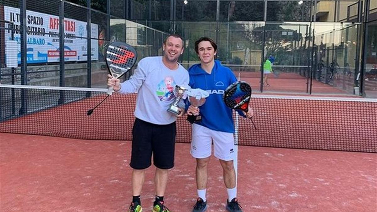 Antonio Cassano vince il torneo di padel a Genova