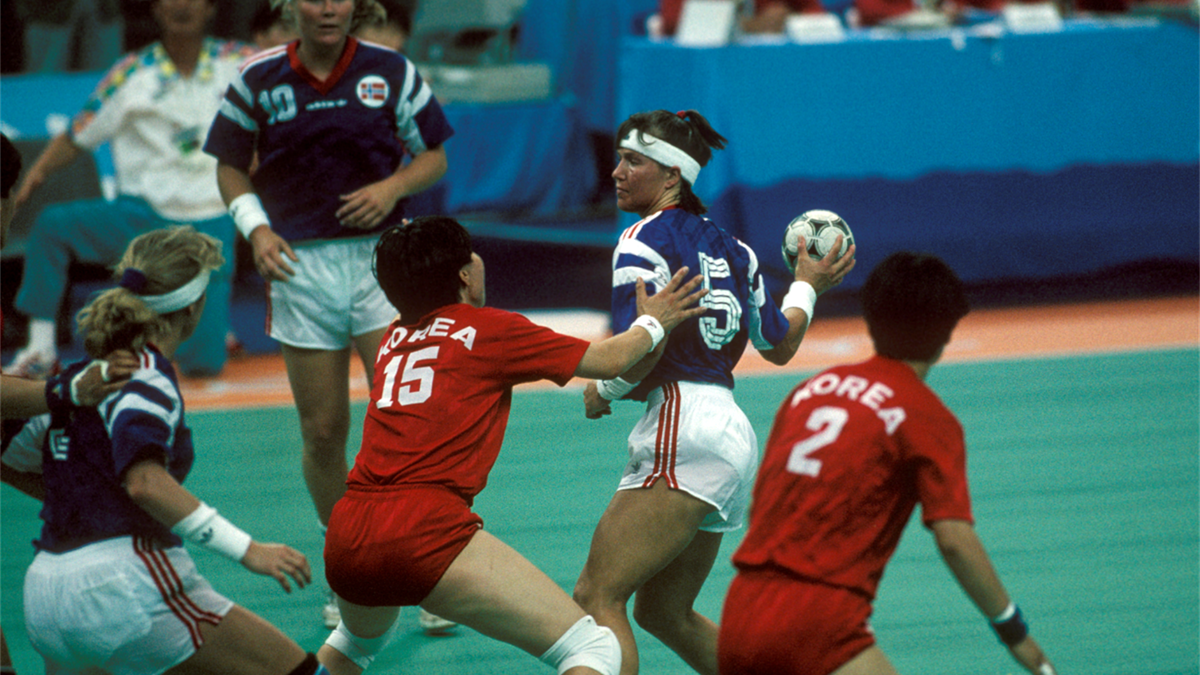 Susann Goksør Bjerkrheim. Norge - Sør-Korea OL-finale 1992