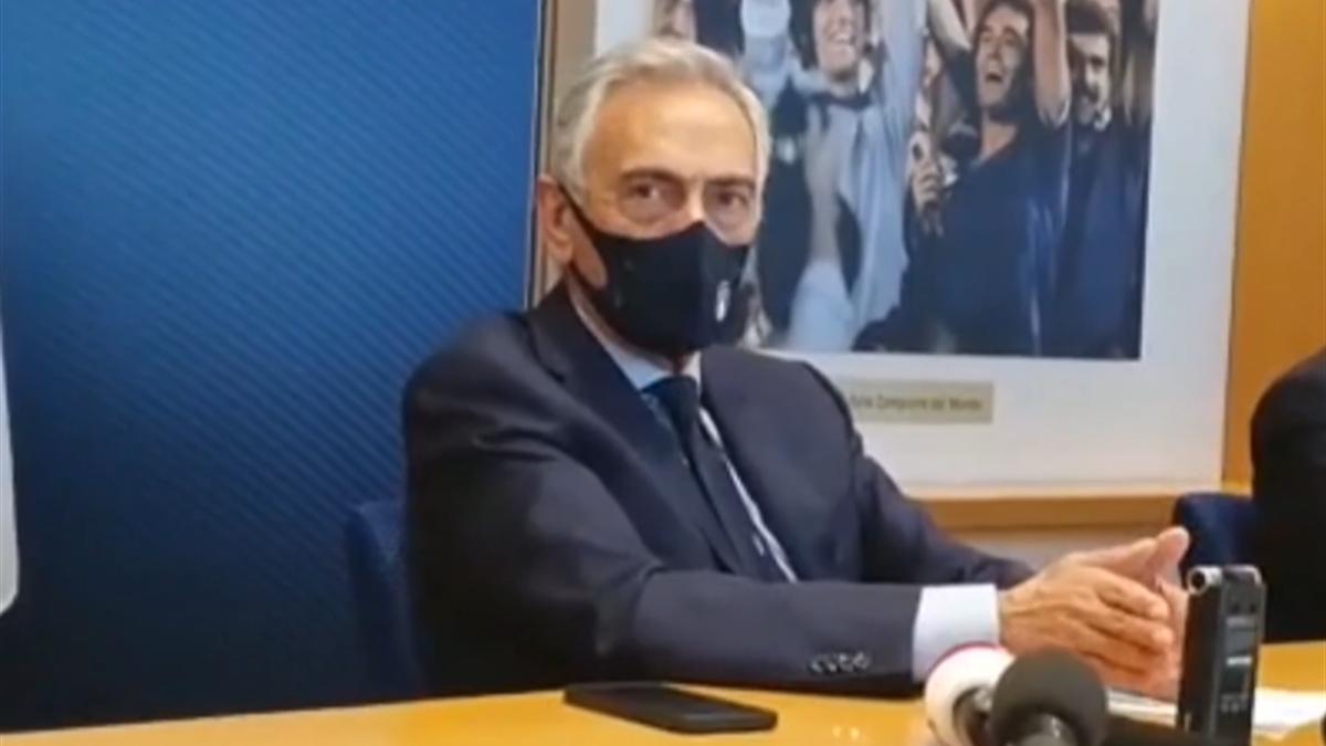Gabriele Gravina, presidente Figc