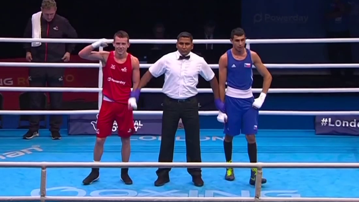 Highlights from yesterday boxing Olympic qualifying event in London (SNTV)